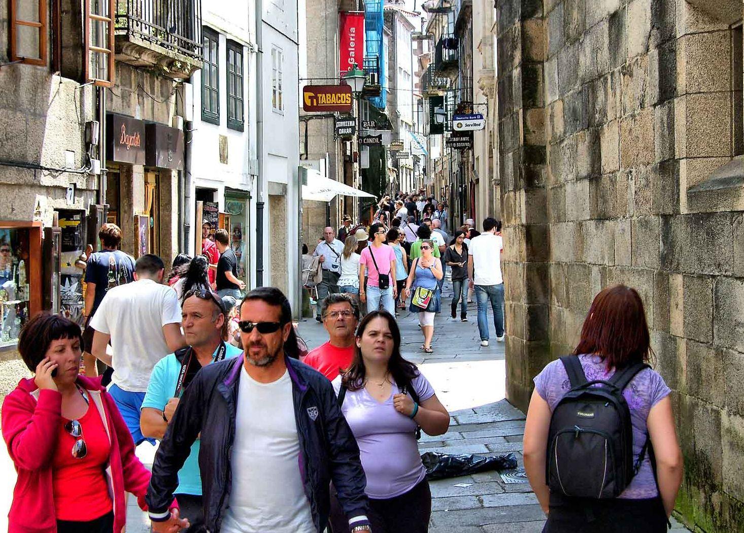Rúa do Franco es una de las cosas imprescindibles que ver en Santiago de Compostela